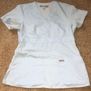 Grey's Anatomy extra small light blue scrub top